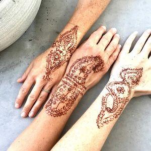 Other - HENNA art PEN brown brush tattoo body jewelry draw